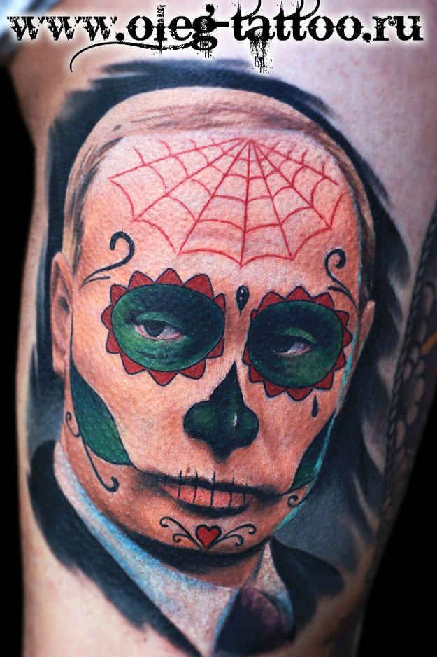 Day of the Dead Putin. #tattoo #russia #zombie