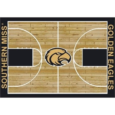 "College Court Southern Mississippi Golden Eagles Rug Size: 10' 9""x13' 2"" $718.80"