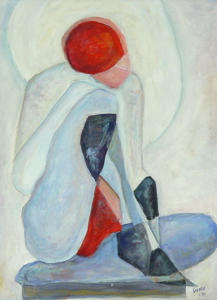 Splynutí protipólů, 2014 Akryl na plátně 56,5 x 41,5