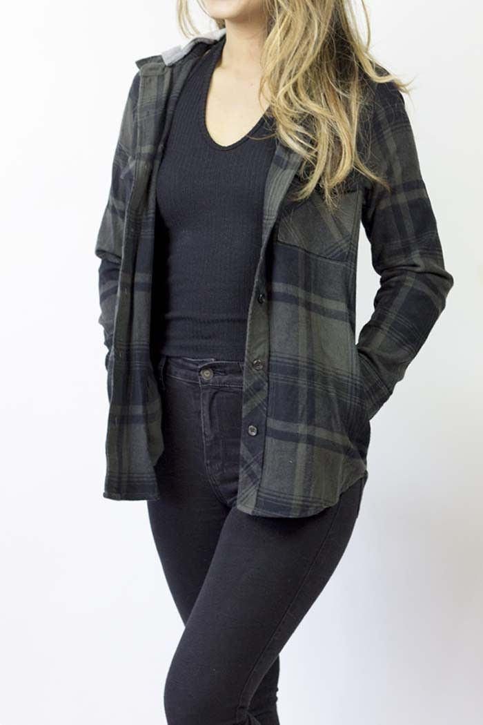 Kylie Hooded Flannel