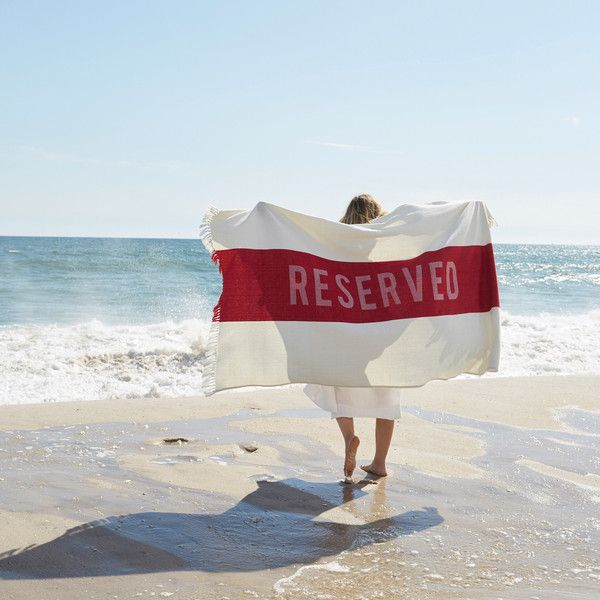Reserved Beach Towel in Red design by Sir/Madam (1 770 UAH) ❤ liked on Polyvore featuring home, bed & bath, bath, beach towels, turkish beach towels, turkish cotton beach towels, oversized beach towels, red beach towel and cotton beach towels
