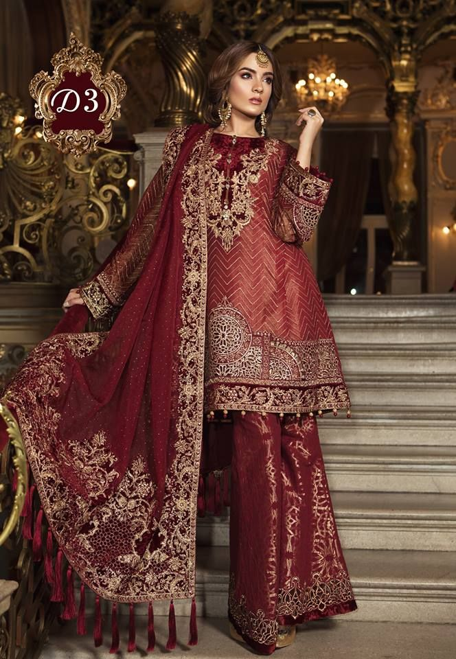 b22faf2469 MBROIDERED Wedding Edition 2018-19 By Maria-B | 1000 Designs Of Pakistai  Designer Winter Collection | Formal dresses for weddings, Bridal lehenga,  ...
