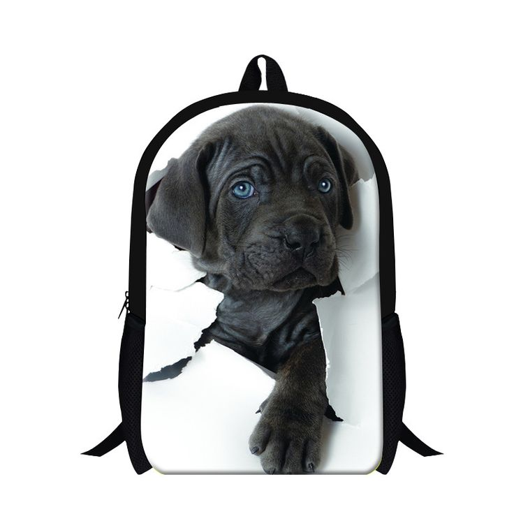 Personalized dog 3D print backpacks for students,lightweight school back pack for teen girls,boys cool bookbags latest design