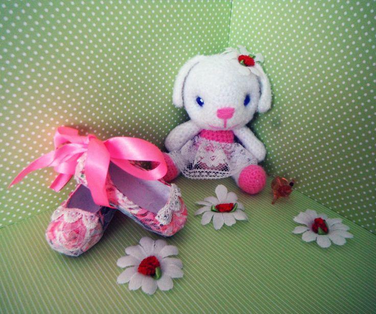 заяц зайка балерина игрушки вязаные амигуруми