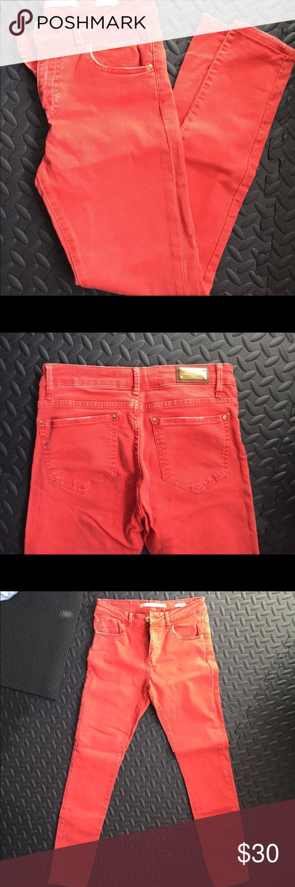 Zara Jeans Size 36 (4) like new Zara pair of skinny jeans, red, perfect for fall. Like new confition, bought them but never wore them as they are a little too tight for me. Zara Jeans Skinny