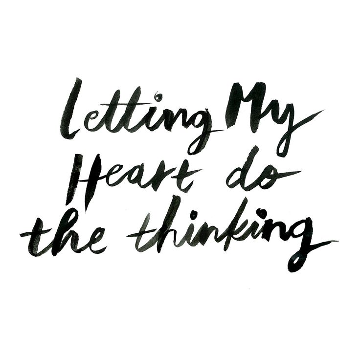Letting my heart do the thinking www.oddmolly.com