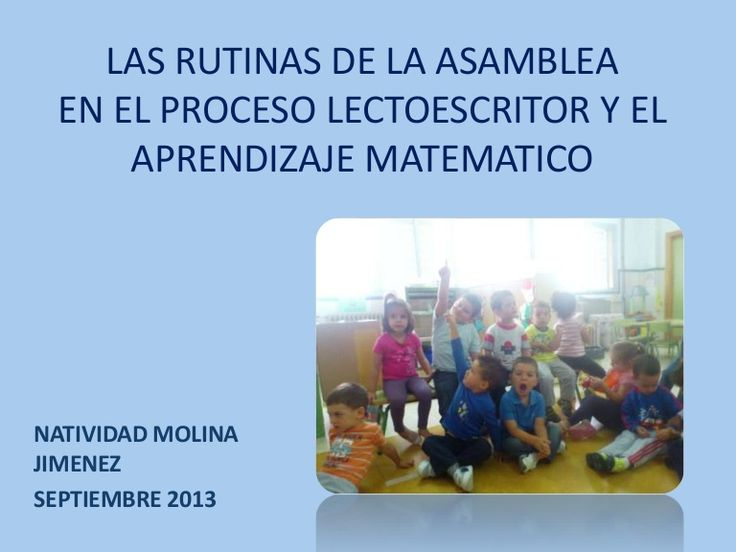 Las rutinas de la asamblea nati medina elvra 13.14