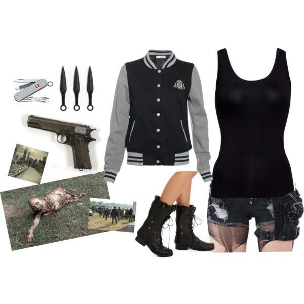 """Zombie apocalypse time 2"" by nessamalik on Polyvore"