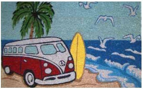 The Gecko Shack - Coir Door Mat - Red Kombi Beach Scene , $29.95 (http://www.geckoshack.com.au/coir-door-mat-red-kombi-beach-scene/)
