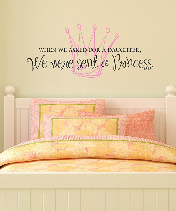 Belvedere Black & Soft Pink 'Princess Daughter' Wall Quote