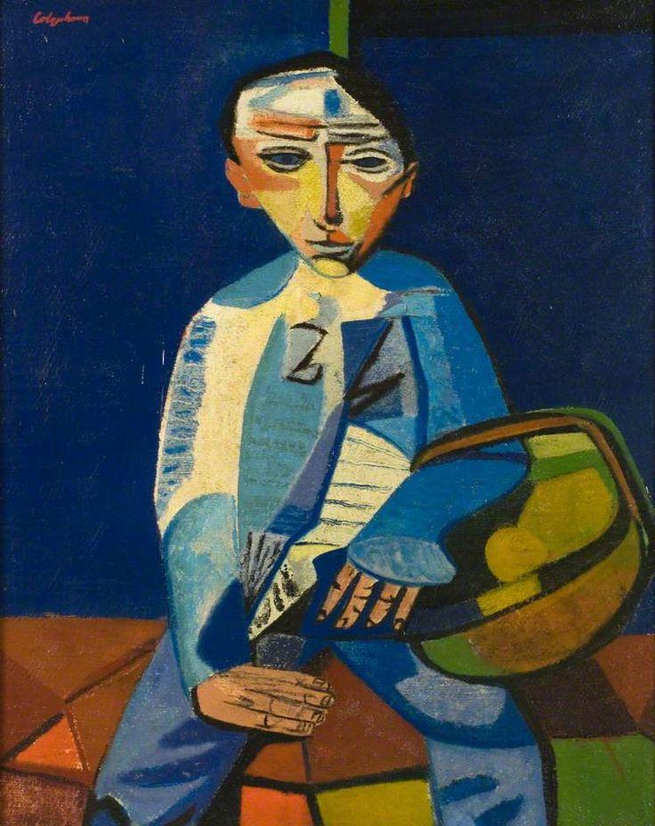 Boy with a Basket c.1949 by Robert Colquhoun (Scottish 1914-1962)