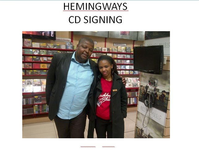 CUM HEMINGSWAY is celebrating 22 years! CD Signing - Thulani Ga Ndlela   19 Oct 2013
