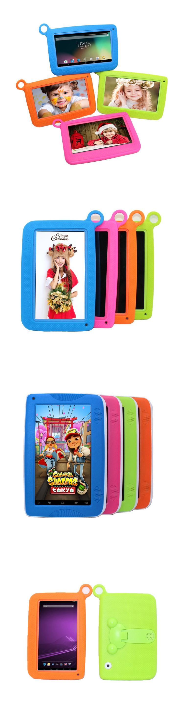 """Children Tablet PC 7"""" Quad Core tablet Android 4.4 Allwinner A33 8GB Wifi Bluetooth game study kids tablet PAD Gift Siliconcase"""
