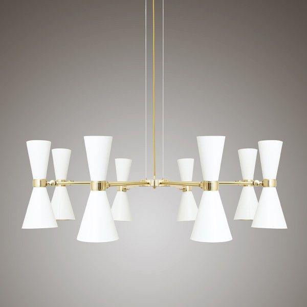 Buy online Cairo | chandelier by Mullan Lighting, direct light brass chandelier…
