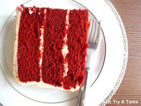 Just Try & Taste: Steamed Red Velvet Cake (Moist, Delicious, Perfect)!
