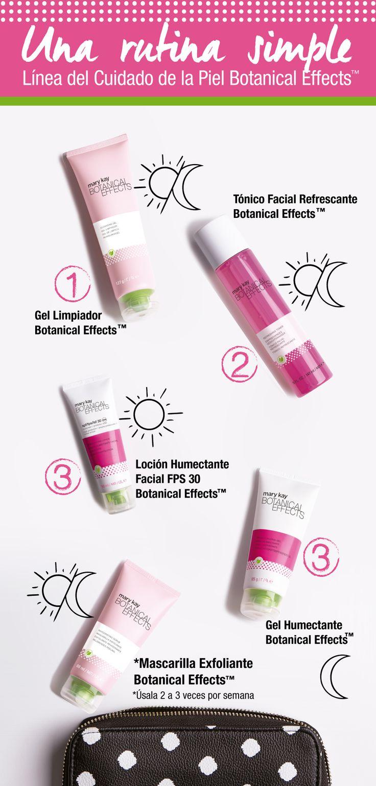 ¡Una rutina de belleza sencilla y saludable para tu piel! Nueva Línea para el Cuidado de La Piel Botanical Effects™. www.marykay.com.co #CuidadoDeLaPiel #HábitosSaludables #Bienestar