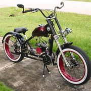 Photos of custom motorized bicycles.See OCC Schwinn Stingray choppers we've motorized.Also rat rods & cruisers, e-bikes or ones with gas and electric motors.