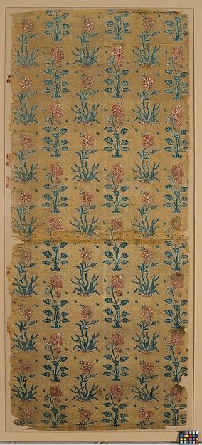 Joined fragments, silk cut and voided velvet,  mid-17th c., India