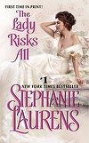 The Lady Risks All by Stephanie Laurens - winner of the Ruby Romantic Long Romance Book of the Year 2013 presented by the Romance Writers of Australia
