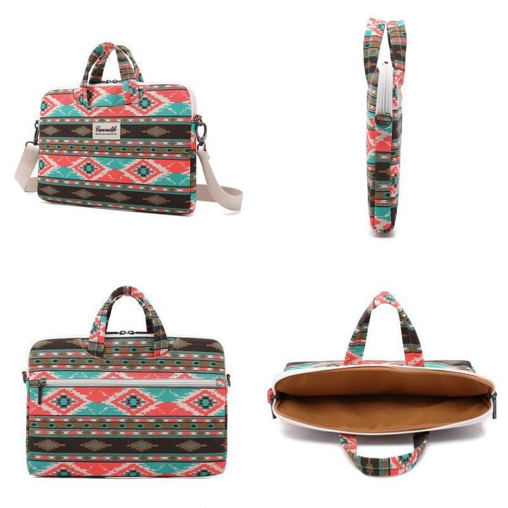 "13-13.3"" Canvas Fabric Ultraportable Laptop Carrying Case Shoulder Bag Briefcase #Canvaslife"
