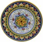 Deruta Italian Ceramic Cheese Plate