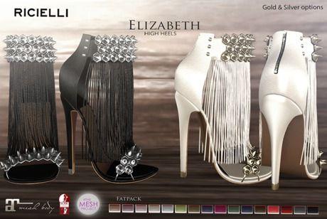 50% OFF R.icielli - ELIZABETH High Heels for TMP, Maitreya & Slink