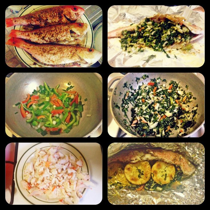 Jamaican Steam Fish stuffed with crab meat & spinach | Meals By Sp3cialTouch | Pinterest | Crab ...