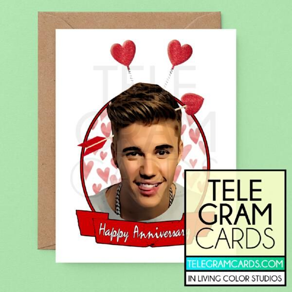 Justin Bieber Ilcs 001b Ann Happy Anniversary Hearts Birthday Cards For Boyfriend Funny Valentines Cards Birthday Cards For Her