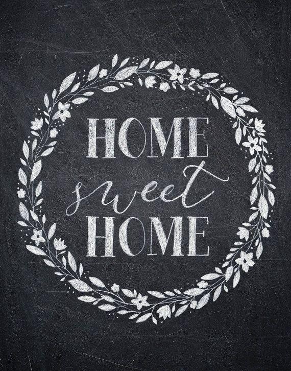 Home Sweet Home Chalkboard Print - vertical