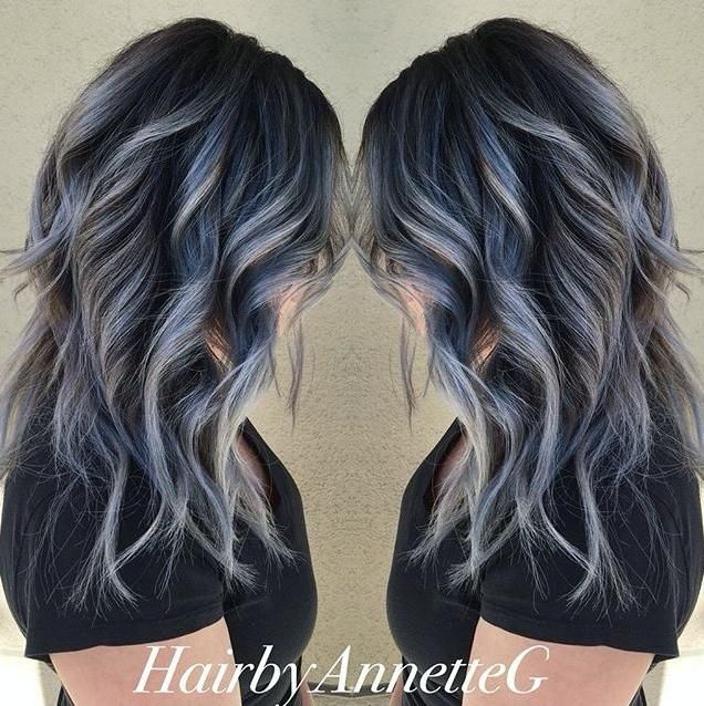 35 Cool Hair Color Ideas To Try In 2016: Hairbyannetteg Used #KenraColor 7SM With A Smidge Of Blue