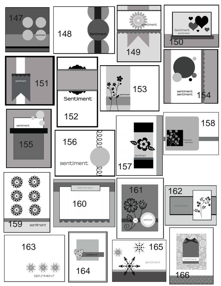 Lovely Card Making Layouts Ideas Part - 1: Tons Of Card Sketches