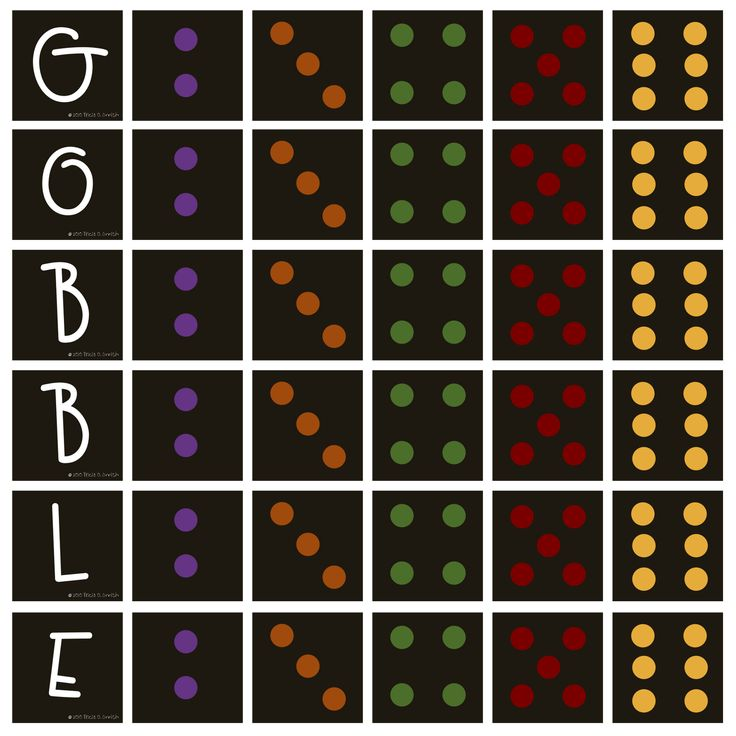 how cute this would be on wooden blocks- gobble instead of yatzee