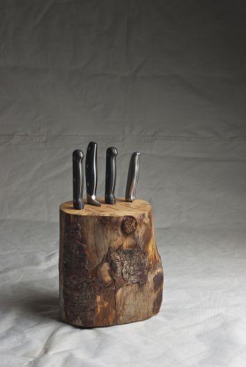 Handgemachter Messerblock