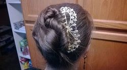 """Testimonial!  Justice Hardman """"Feel free! I really love it. I've worn it every day since I got it and it's the most comfortable and secure hair accessory I own."""""""