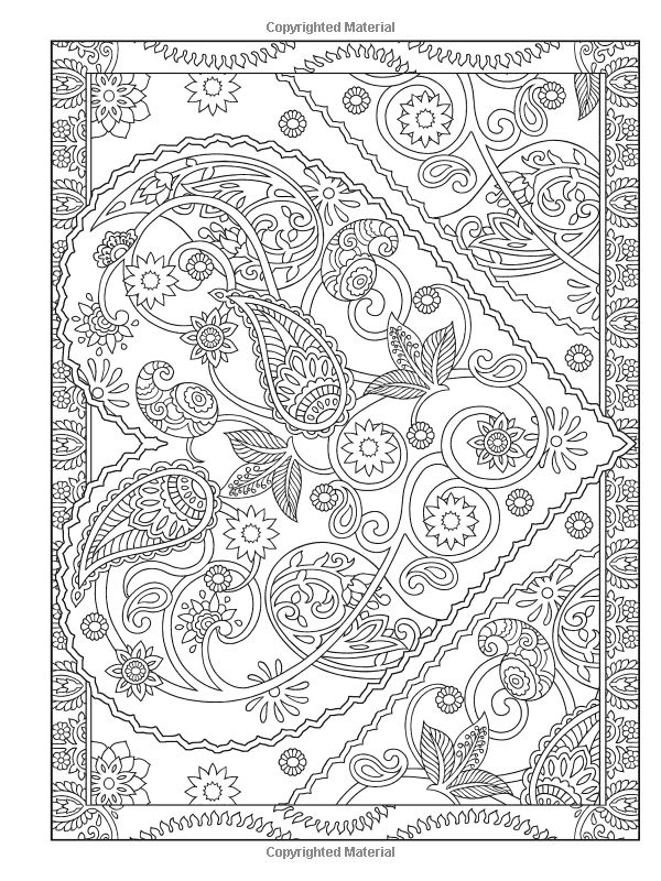Creative Haven Magnificent Mehndi Designs Coloring Book Artwork By