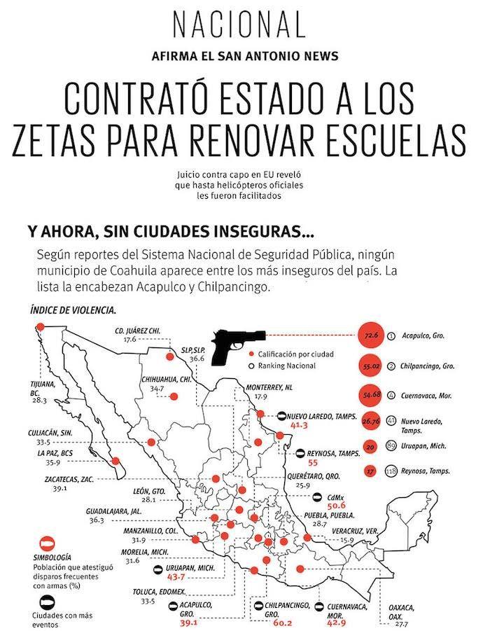 Los Zetas tuvieron contratos públicos para renovar escuelas de Coahuila, dice prensa de Texas | Calor Politico