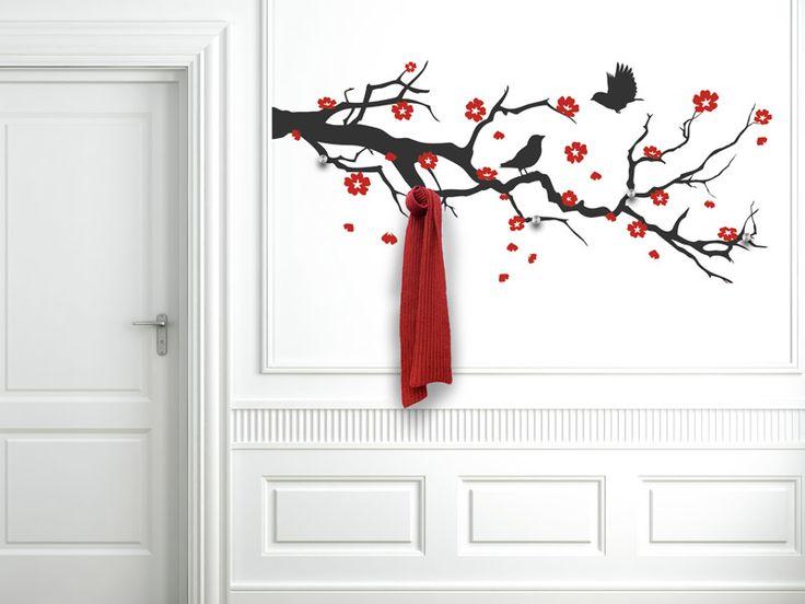 Die Garderobe Kirschblütenzweig hier bestellen. ✓ Große Auswahl | Top Qualität | schnelle Lieferung | kostenloser Versand (D) bei Wandtattoos.de.