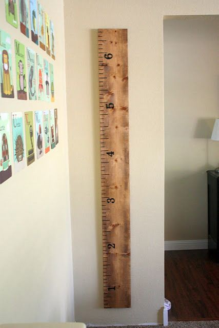 future idea: use a fence board, paint it, document how tall you kiddo is getting. then you can hang i from your ceiling or on a wall as decor.