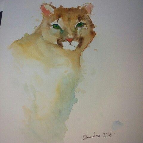 #puma #acuarela #dibujo #temuco #dhandro