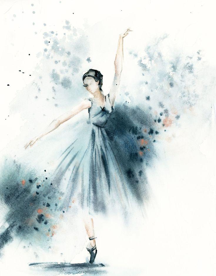 Открытки балет акварелью