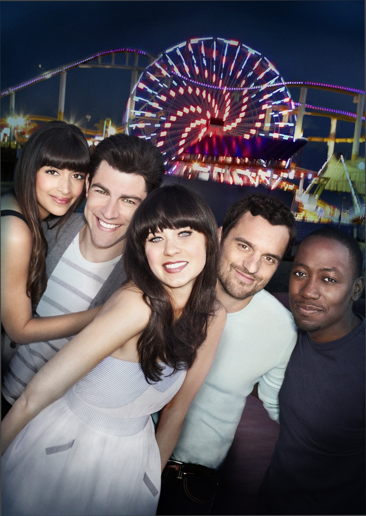 Cece, Schmidt, Jess, Nick & Winston (New Girl)