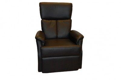 Miami recliner footrest black leather www.helsetmobler.no