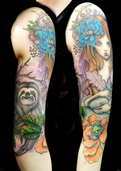 23 Of The Best Sloth Tattoos Of All Time: Because there is no such thing as a bad sloth tattoo.