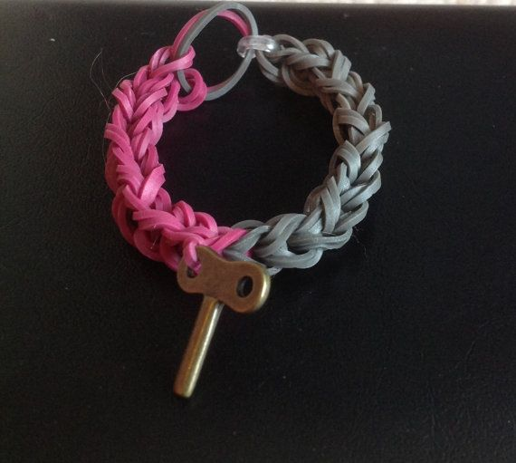 Rainbow Loom fishtail with charm