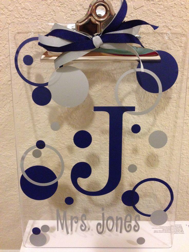 Personalized Teacher's Clipboard Custom Teacher's Gift by BusyBeeCrafts09 on Etsy https://www.etsy.com/listing/207764569/personalized-teachers-clipboard-custom