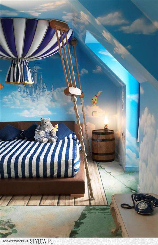 Up Up and away with this gorgeous room