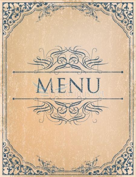 vintage menu vector background