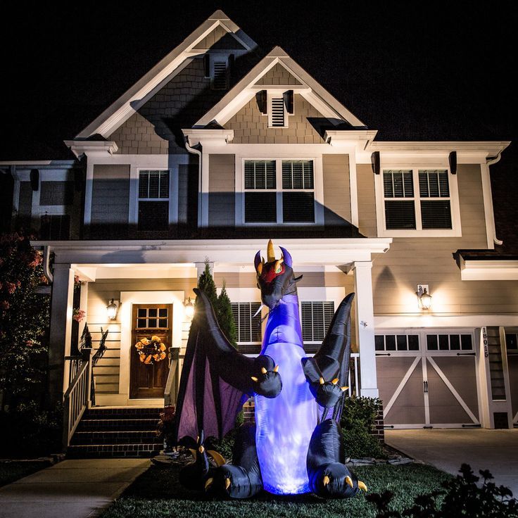 Holiday Living 8-ft x 8-ft Animatronic Lighted Dragon Halloween Inflatable