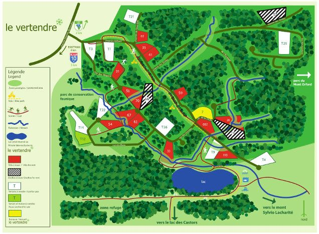 1000 acres of wilderness, 2 lakes and 10km of protected riparian forest buffer…