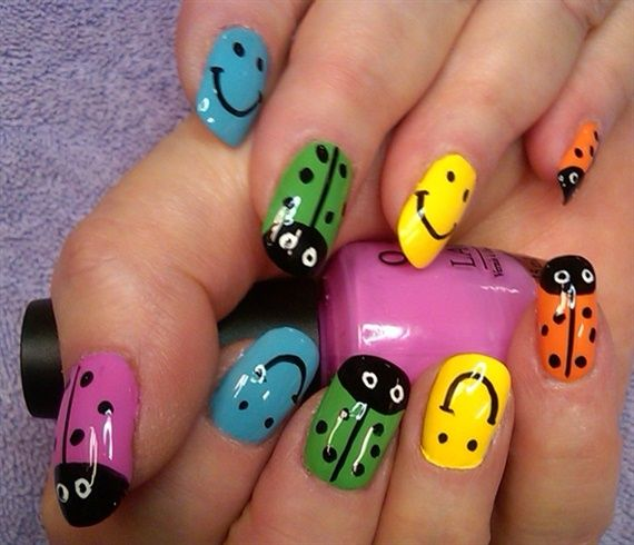 You Bug Me In Color By Aliciarock From Nail Art Gallery Cute Critters And Animals Pinterest Nails Galleries
